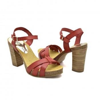 Eleganckie Hiszpańskie sandały firmy Mariettas 71040 czerwone