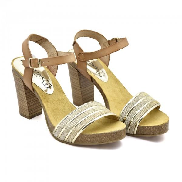 958ec8e2205ab WYgodne sandały damskie hiszpańskiej formy Mariettas. Wykonane są w całości  ze skóry naturalnej. Obuwie ma wycięte wycięte palce i wolną piętę, ...
