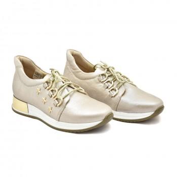 eleganckie obuwie sportowe ze złotymi dodatkami Aga