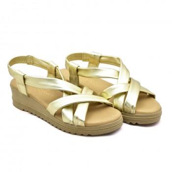 miękkie codzienne sandały damskie na koturnie