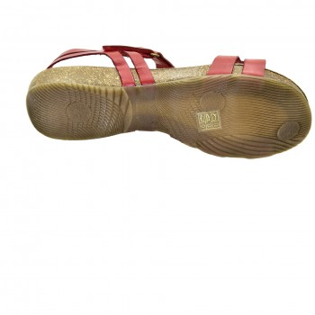Czerwone zapinane na rzep sandałki na paseczku Hiszpańskie Sandały SPK Shoes 920