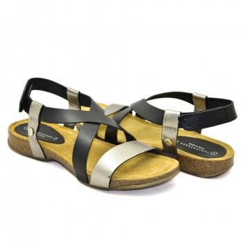 Wygodne lekkie na korkowe i fuzbetowej podeszwie Hiszpańskie Sandały SPK Shoes