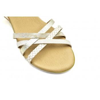 Modne i stylowe Hiszpańskie Sandały Vaquetillas 20696 Złote