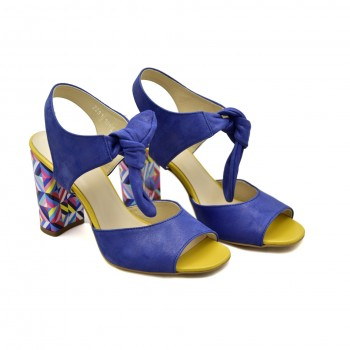 Eleganckie Sandały Kordel 1861 Niebiesko-żółte