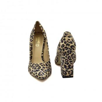 Wygodne buty wizytowe Ver Giovanni  w panterkę