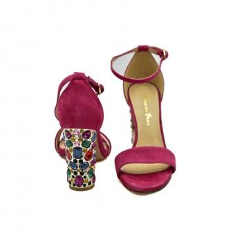 Hiszpańskie Sandały Alma en Pena V19310 Różowe na każdą okazję