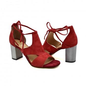 Sandały dobrze wyprofilowane i wygodne Simen 1561A Czerwone