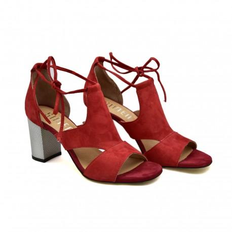 Modne i stylowe Sandały Simen 1561A Czerwone