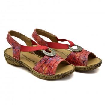 Czerwone miękki wygodne sandały firmy Comfortabel 710954