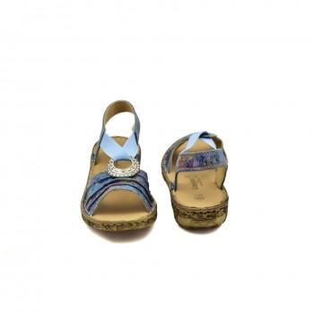 Płaskie sandały z gumą na podbiciu z miękką elastyczną podeszwą o dobrej przyczepności firmy Comfortabel 710954