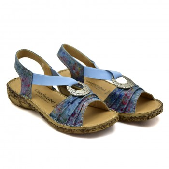 Niebieskie miękki wygodne sandały firmy Comfortabel 710954