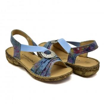 na niewysokiej koturence skórzane sandały Comfortabel 710954