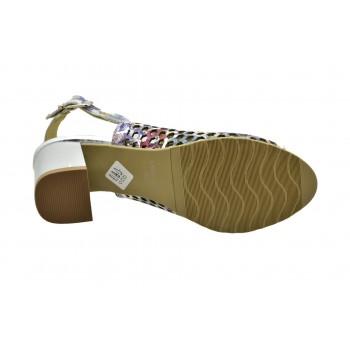 wygodne jasne dziurkowane srebrzyste sandały laura piacci 420