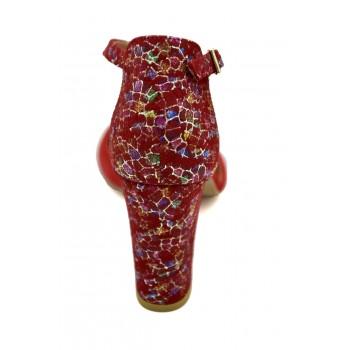 Prestiżowe buty z odkrytym palcem Sandały Laura Piacci 1916 Czerwone