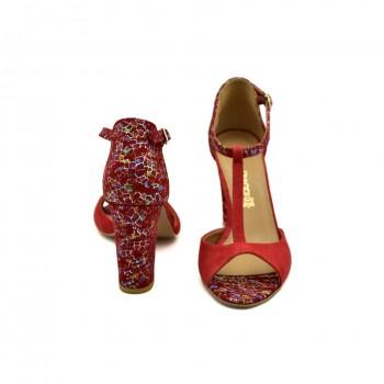 Wygodne i na każdą okazję Sandały Laura Piacci 1916 Czerwone