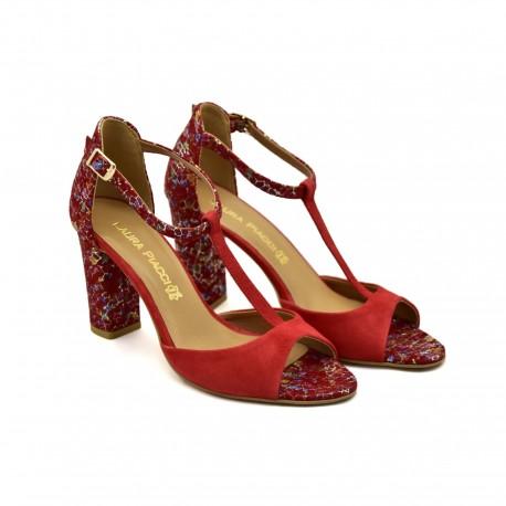 Modne i stylowe Sandały Laura Piacci 1916 Czerwone