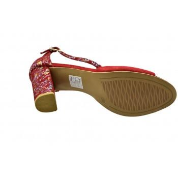 Wiosenno/Letnie sandały taneczne Laura Piacci 1916 Czerwone