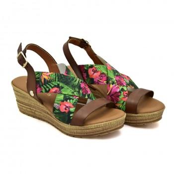 Hiszpańskie sandały na koturnie Vaquetillas 20671