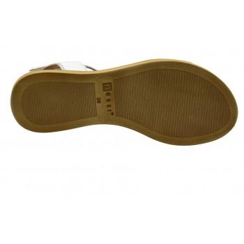 Prestiżowe Sandały Nessi 19561 Białe