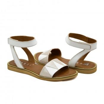 Modne i stylowe Sandały Nessi 19561 Białe