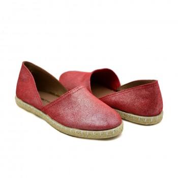 Modne i stylowe Hiszpańskie Espadryle Marietta's 47-4220-14 Czerwone