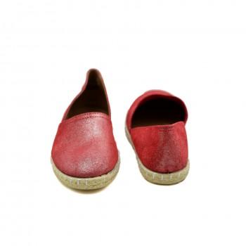 Miękkie, wygodne Hiszpańskie Espadryle Marietta's 47-4220-14 Czerwone
