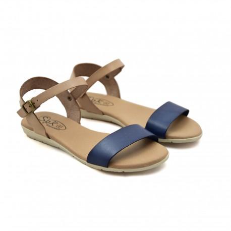 Hiszpańskie Sandały SPK Shoes 9241/F Niebieskie