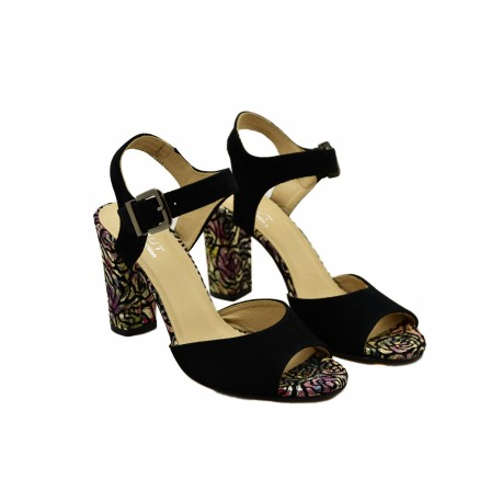Modne i stylowe Sandały Eksbut 5043 Czarne