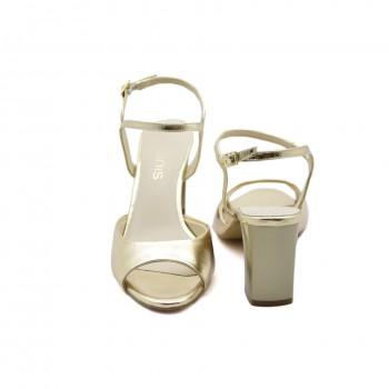 Prestiżowe sandały na stabilnym obcasie Anis 4734 Złoty