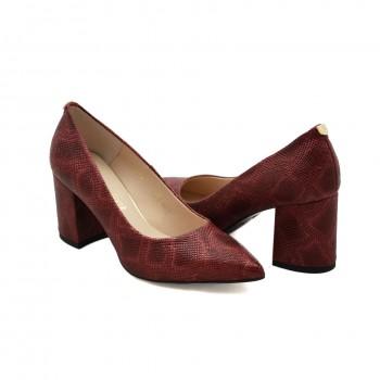 miękkie pantofle na klockowym 9212-649