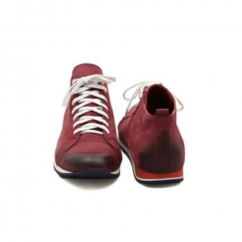 czerwone sznurowane idealne na co dzień i długie spacery