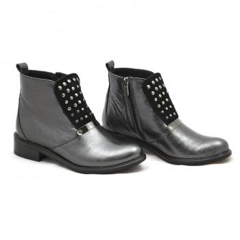 Sztyblet damski czarno-srebrny Lamanti 609