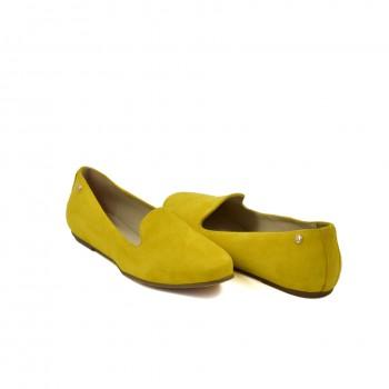 Skórzane żółte mokasynki na miękkiej elastycznej podeszwie
