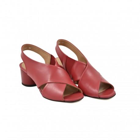 eleganckie sandały simen 1306 czerwone