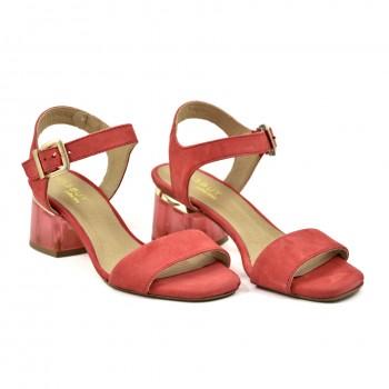Damskie Sandały Eksbut 5926 Czerwone