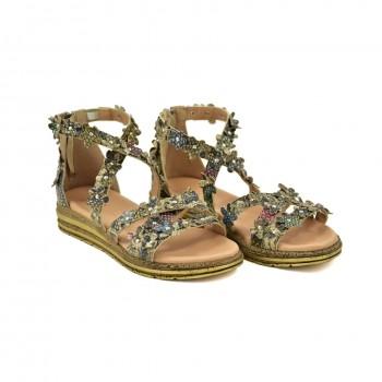 Stabilne sandały z piętką zapinane na zamek Simen 2727A