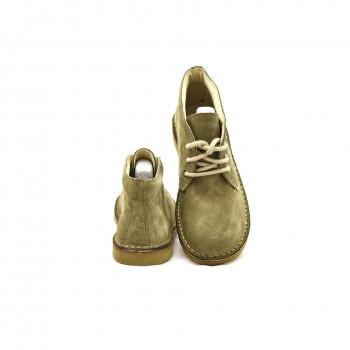 Wygodne buty oliwkowe damskie  welurki Nagaba 075/074