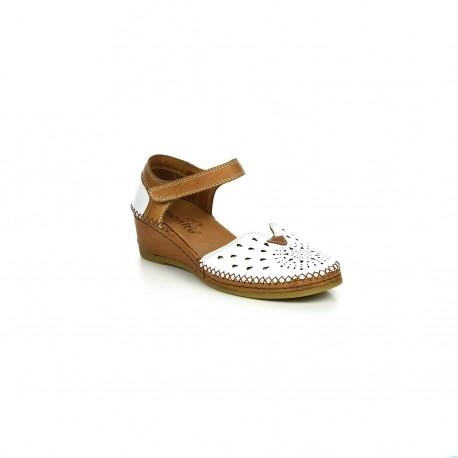 Damskie Sandały Manitu 911008 Białe