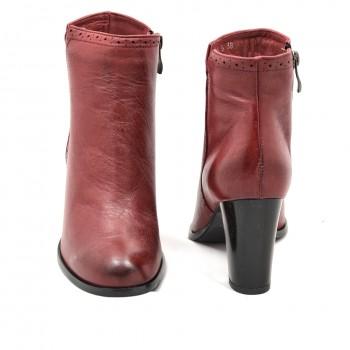 Eleganckie botki zimowe czerwone Acord 3296/502