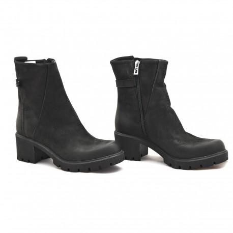 Trzewiki damskie czarne zimowe Simen 9545