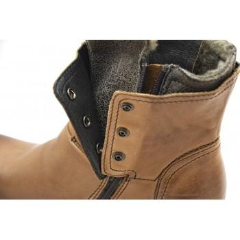 Wizytowe buty męskie zimowe Nik 0081