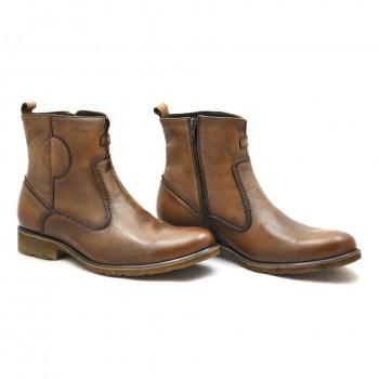Eleganckie buty wizytowe zimowe brąz Nik 0149