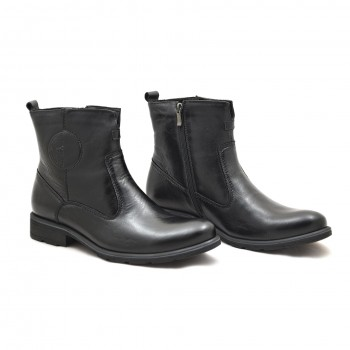 Eleganckie buty wizytowe zimowe czarne Nik 0149