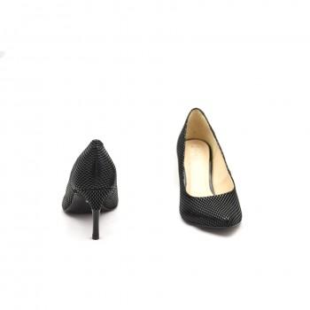 Wygodne buty wizytowe Ver Giovanni 644/95 czarne z miękkiej skóry