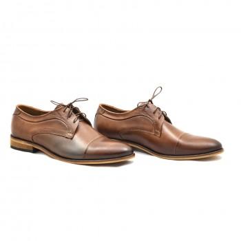 Brąz DUO 1730 męskie buty wizytowe