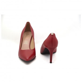 Wygodne dobrze wyprofilowane buty wizytowe Sala 1816/89 Czerwone lico