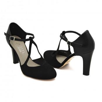 Wygodne buty wizytowe taneczne  Kotyl 5923 Czarny
