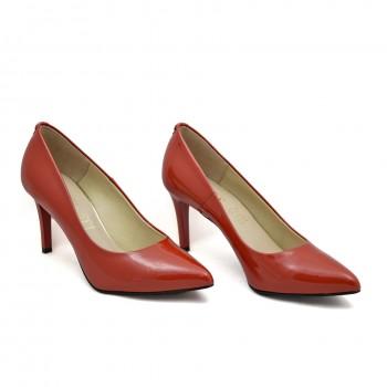 Eleganckie buty Sala 1816 88 Czerwony lakier