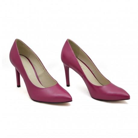 Wygodne buty wizytowe Anis 4527  Fuksja