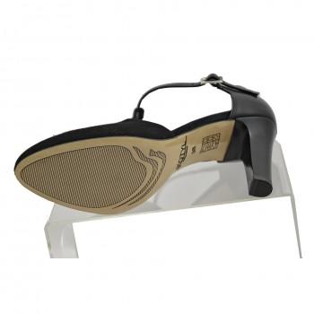 Eleganckie buty Kotyl 5923 Czarny zamsz zapinane wokół kostki
